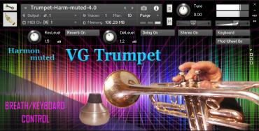 VG Trumpet Harmon muted Kontakt sound library