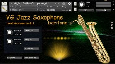 Saxophone Baritone Kontakt library