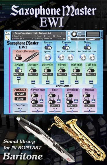 Sax Master EWI Baritone kontakt