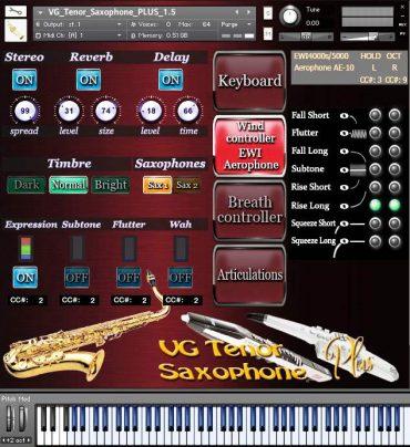VG Saxophone Tenor Kontakt Sound library