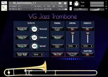 VG Jazz Trombone kontakt library